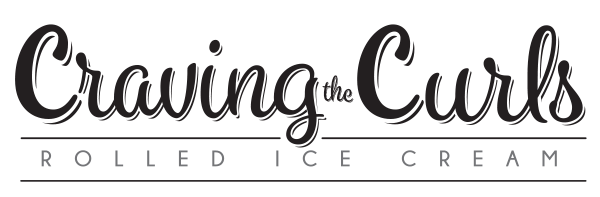 Craving the Curls Rolled Ice Cream Shop Logo